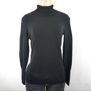 WORTHINGTON Black Turtle Neck Sweater Small